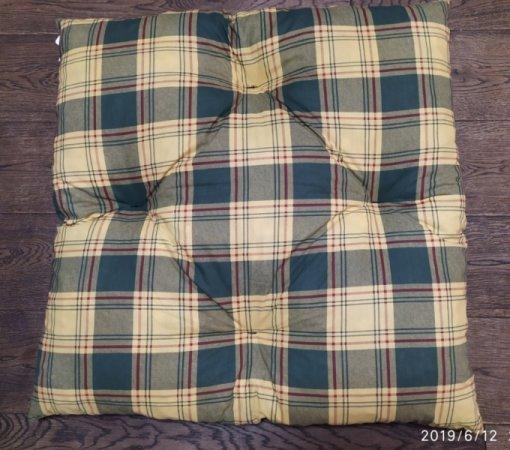 Polštář pro domácí mazlíčky - kostkovaný zeleno-žlutý - Výprodej