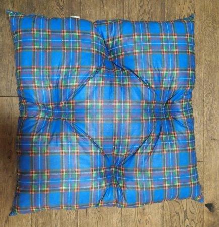 Polštář pro domácí mazlíčky - kostkovaný modrý - Výprodej