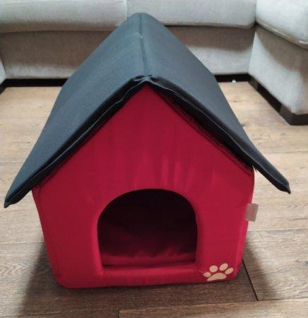 Domeček pro domácí mazlíčky - červeno-černý - Výprodej