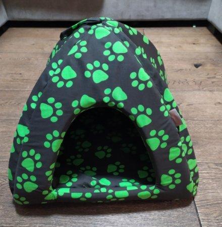 Domeček pro domácí mazlíčky - zelené tlapky - Výprodej
