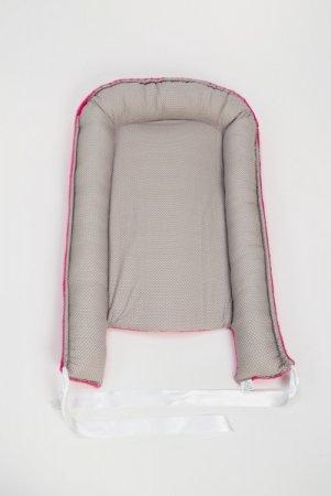 Hnízdečko pro miminko - fleece - růžové