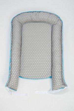 Hnízdečko pro miminko - fleece - modré