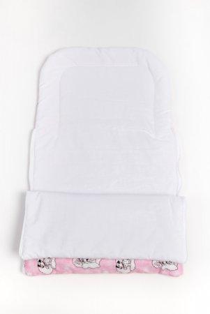 Spací vak do kočárku - růžový - dalmatin