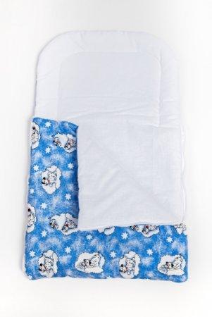 Spací vak do kočárku - modrý - dalmatin