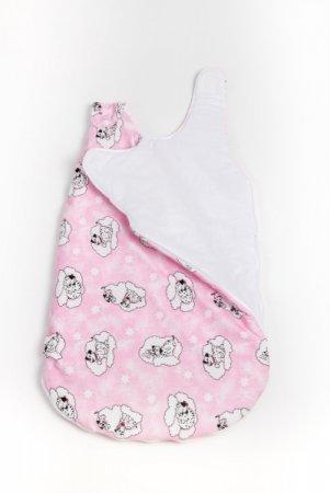 Spací pytel - růžový - dalmatin