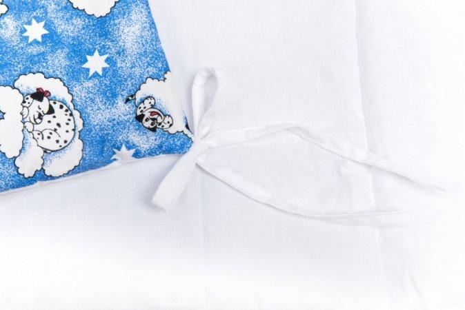 Mantinel do postýlky - modrý - dalmatin