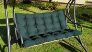 Polstr a opěrka na zahradní houpačku - 170 cm - zelený