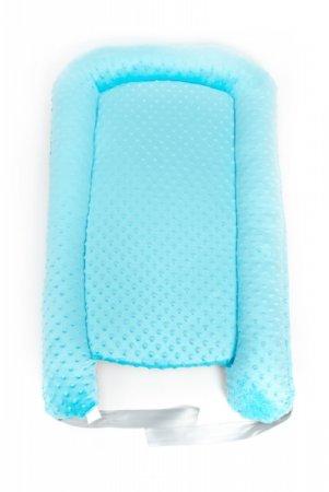 Hnízdečko pro miminko - minky - modré
