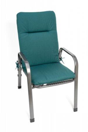 Podsedák na zahradní židli Standard se šňůrkou - 100 x 50 - zelený