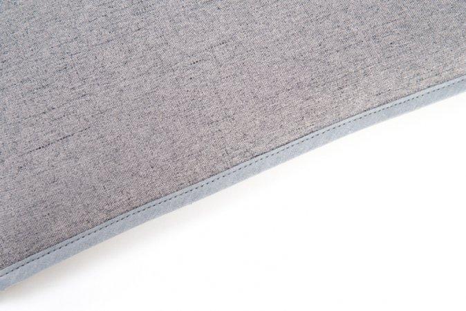 Podsedák na zahradní židli Lux lemovaný - 120 x 50 - šedý