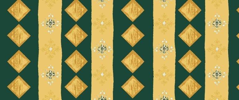 Látka - běžný metr koso zelený