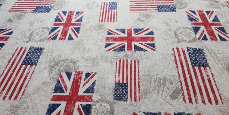 Látka - běžný metr - vlajky