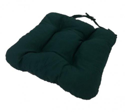 Podsedák na židli foukaný se šňůrkou - 40 x 40 - zelený - sada 4 ks