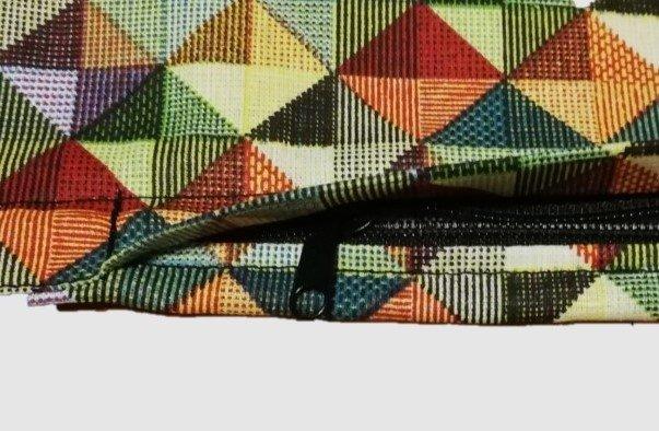 Polštářek s povlakem barevná mozaika - 40 x 40 cm