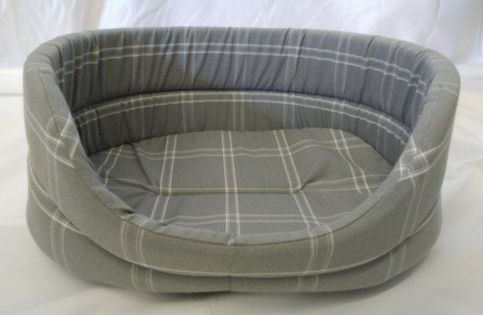 Pelech pro domácí mazlíčky - šedý kostkovaný - Výprodej
