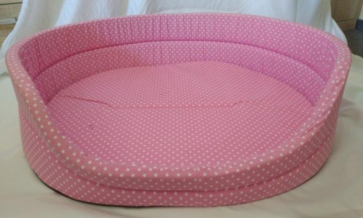 Pelech pro domácí mazlíčky - růžový puntíkatý - Výprodej
