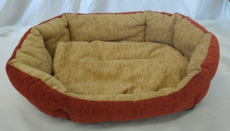 Pelech pro domácí mazlíčky - oranžovo-béžový manšestr - Výprodej