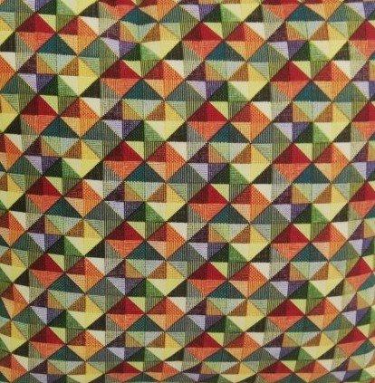 Látka - běžný metr barevná mozaika