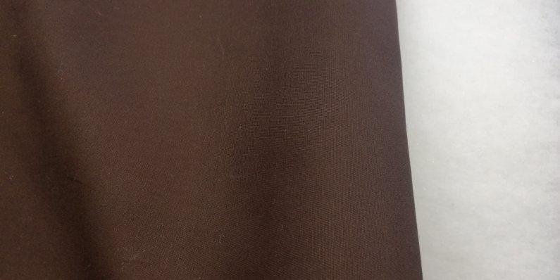 Látka - běžný metr hnědý kepr