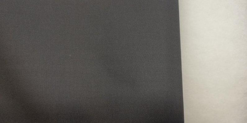 Látka - běžný metr tmavě šedý kepr