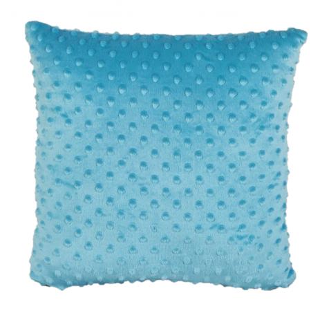 Polštářek plněný rounem 35 x 35 cm - minky, světle modrý