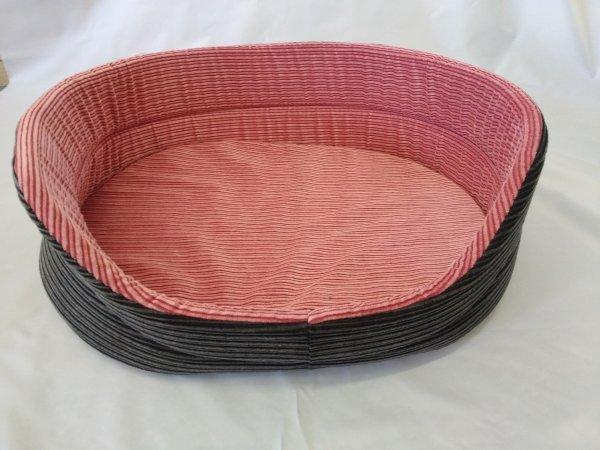 Pelech pro domácí mazlíčky - růžovo-šedý manšestr - Výprodej