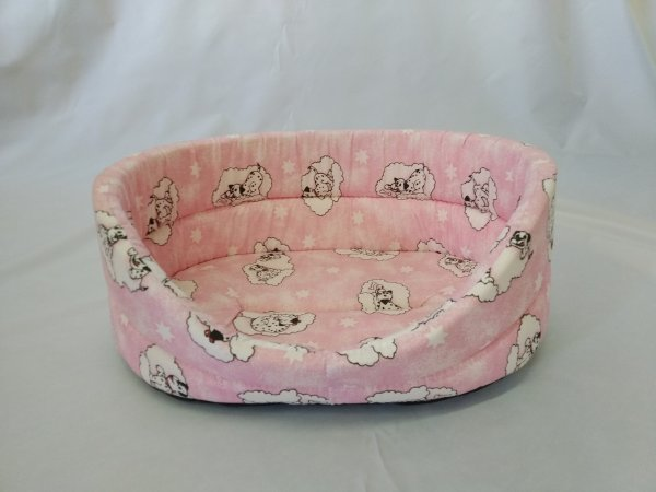 Pelech pro domácí mazlíčky - růžový s dalmatiny - Výprodej