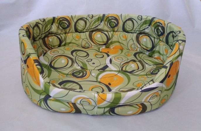 Pelech pro domácí mazlíčky - zelený s kruhy - Výprodej