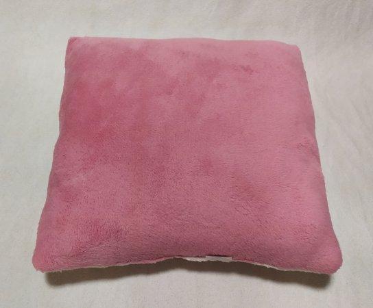 Polštářek bílo-růžový 40 x 40 cm