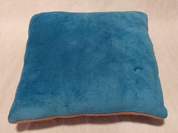 Polštářek modro-hnědý