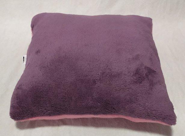Polštářek růžovo-fialový