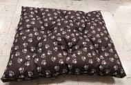 Polštář pro domácí mazlíčky - hnědý s tlapkami - Výprodej