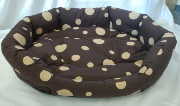 Pelech pro domácí mazlíčky - hnědý s puntíky - Výprodej