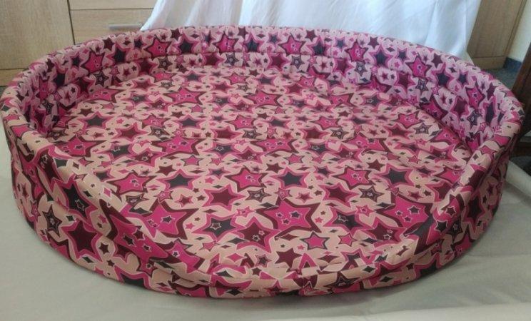 Pelech pro domácí mazlíčky - růžové hvězdy - Výprodej