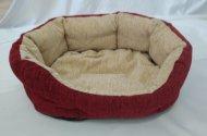 Pelech pro domácí mazlíčky - červeno-béžový manšestr - Výprodej