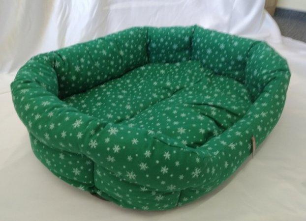 Pelech pro domácí mazlíčky - zelený s vločkami - Výprodej