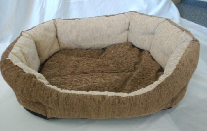 Pelech pro domácí mazlíčky - hnědo-béžový manšestr - Výprodej