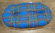 Polštář pro domácí mazlíčky - modrý kostkovaný světlý - Výprodej