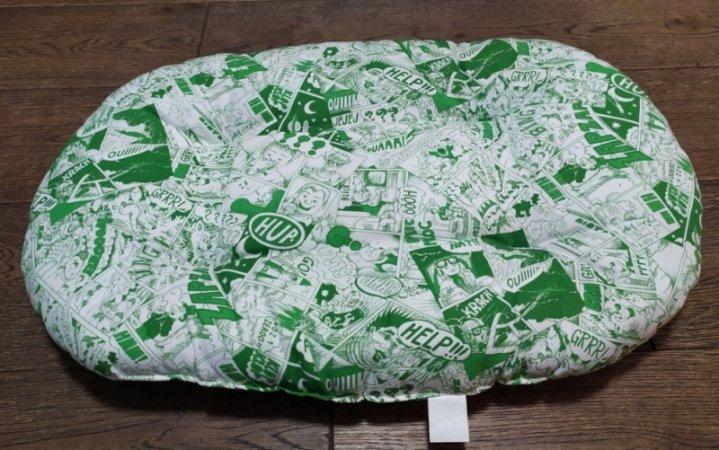 Polštář pro domácí mazlíčky - komiks zelený - Výprodej